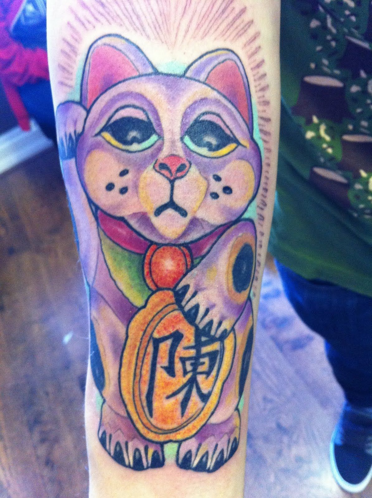 Displaying 20> Images For Japanese Good Luck Cat Tattoo