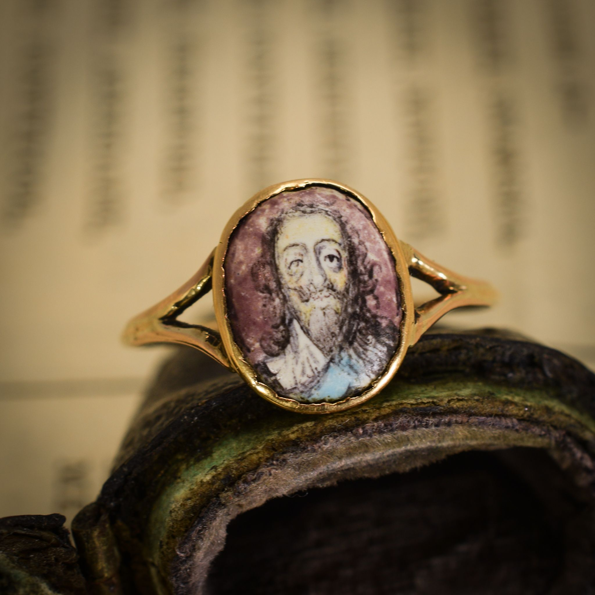 Rare 17th Century Charles I Memorial Ring Rings, Old