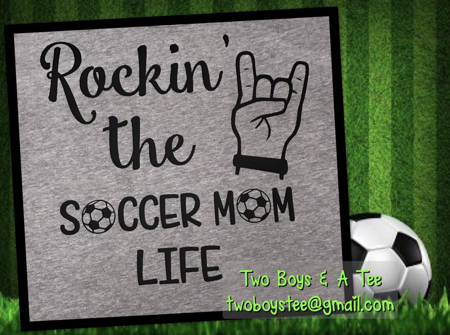 f2d62530f Rockin' the Soccer Mom Life S M L XL 2X Basic Unisex or Ladies Tee fun  saying for mom or dad any sport football volleyball by TwoBoysAndATee on  Etsy