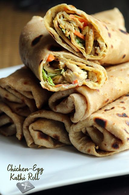 chickenegg kathi rolls / delicious chapathi roll in 2020