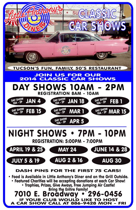 Little Anthonys Diner Classic Car Show Day Tucson AZ Car - Tucson classic car show