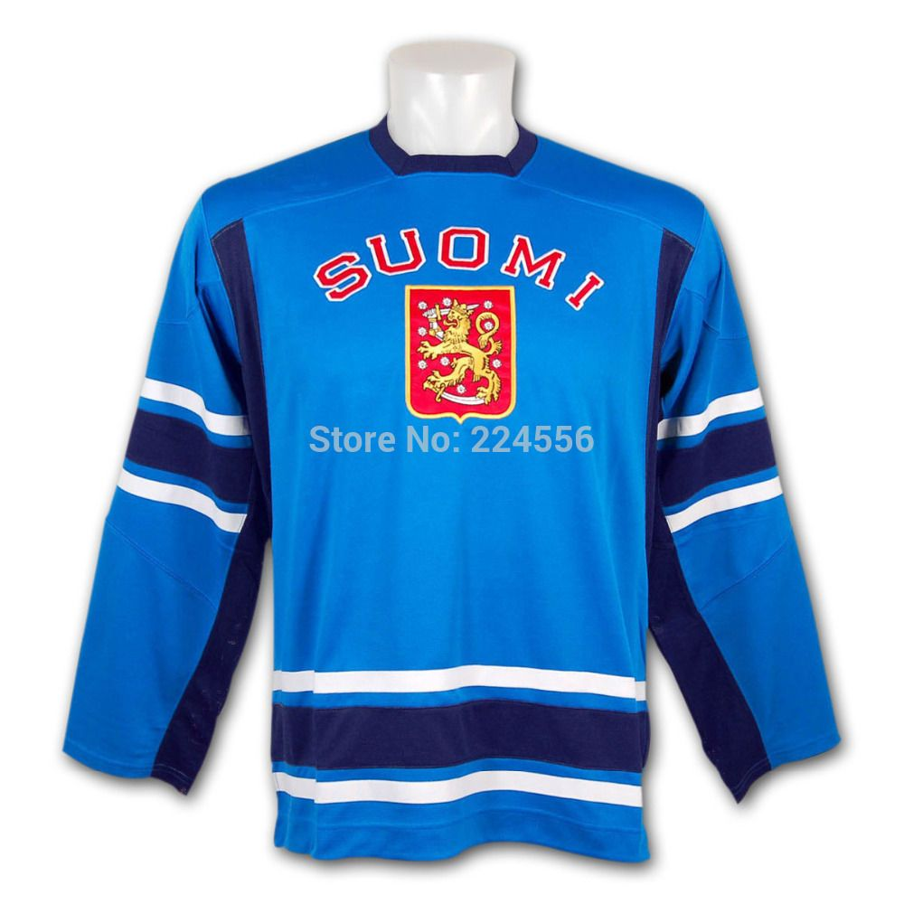Find More Sports Jerseys Information about Team Finland Hockey jersey IIHF  2010 Swift Replica Olympic game 79cb71d5f92