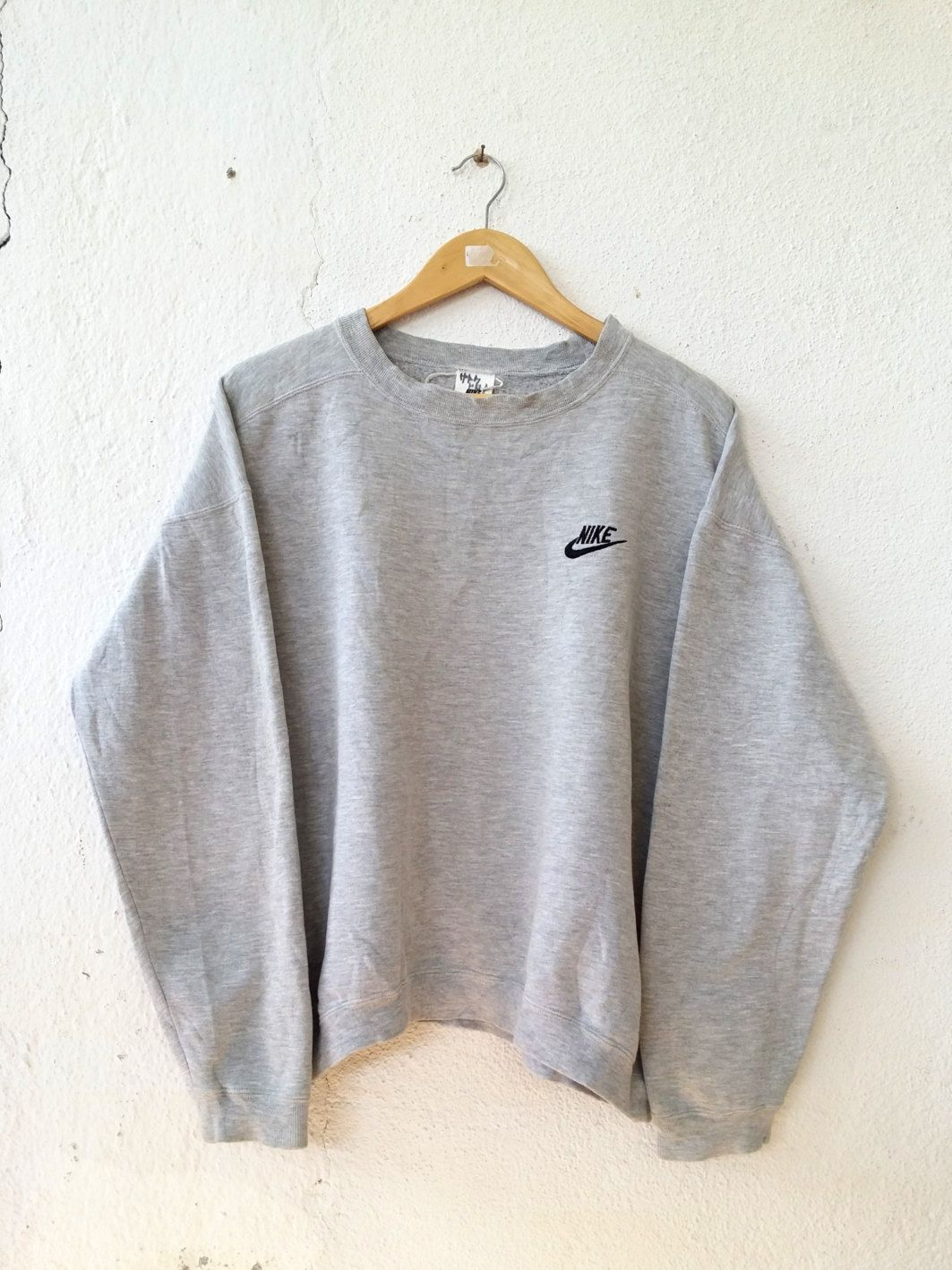 209c8249f279 Vintage 90 s NIKE Sweatshirt with Small Logo Spell Out Embroidered Sweater  Jumper Pullover Swag Hip Hop Streetwear Adult Oversize LL VSS109 by ...