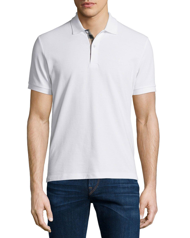 16ea6cc7082d Short-Sleeve Oxford Polo Shirt White