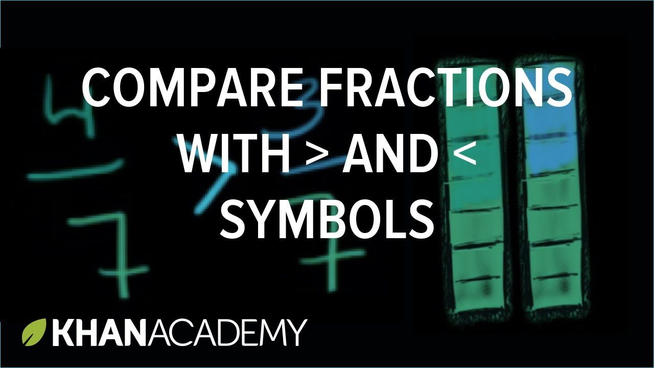 Comparing Fractions With Greater Than And Less Than Symbols