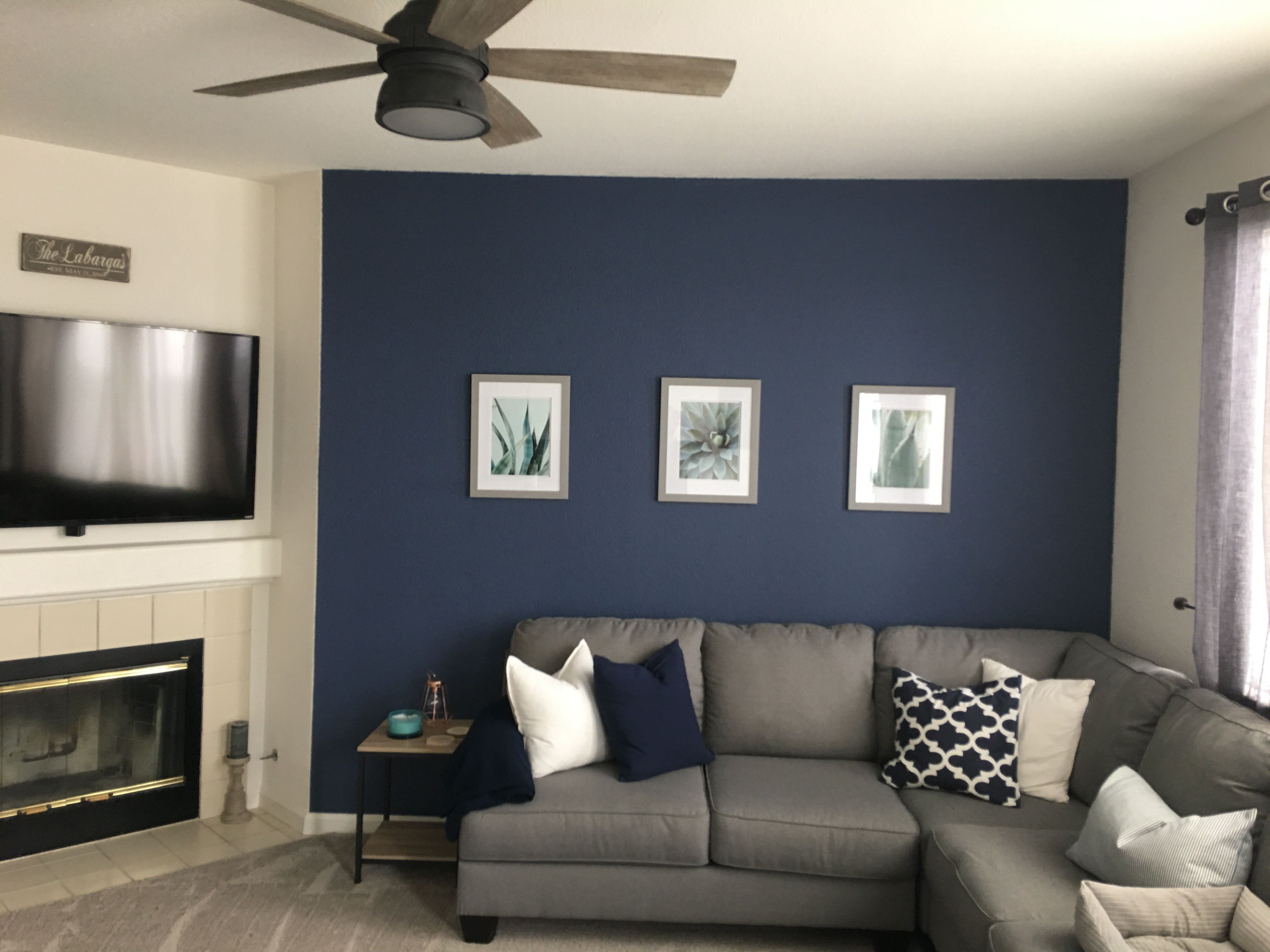 Navy wall: color is Behr in \