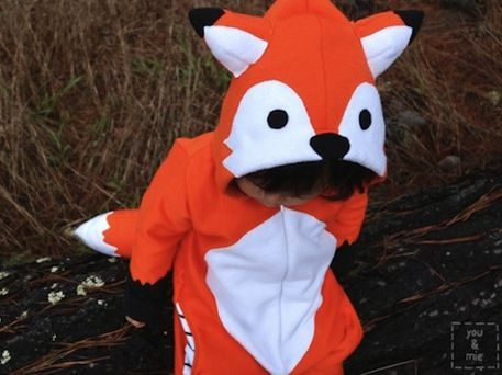 3 DIY Fox Costumes for Kids - Fox costume diy, Fox costume, Kids costumes, Kids costumes boys, Halloween, Halloween fun - Have you heard the buzz surrounding fox costumes this Halloween  We think it must be in part due to the viral video  The Fox (What Does the Fox Say)  by Ylvis  Whatever the case, we're certainly in favor of the trend! Before your child decides to make a lastminute switch to fox ears, check out these three variations we love  These DIY fox costumes for kids range from easy to advanced  We've even spotted a great DIY fox costume for adults if you'd like to accompany your child in style while TrickorTreating  Easy Does It DIY mom Ella made this fox costume for her daughter from an orangecolored longsleeve Tshirt, white felt, construction paper, black gloves and black pants  Trusty black eyeliner works out great for the face paint  Get the scoop on this DIY fox costume at iVillage  For Fashionistas If your child already has an adorable wardrobe, use these pieces to your advantage as you plan your fox costume  For this look, you can dress your child in an old jacket that still fits and refashion a hooded sweater into one with felt fox ears  Add a few handsewn details and some cute boots, and your little fox is ready to go trickortreating  Get the DIY fox costume howto at The Paper Mama  Sewing Superstar If you're up for a more ambitious sewing project, try out this DIY fox costume for kids, made by Cherie of You and Mie  The cozy hooded outfit comes complete with a stuffed tail, pockets (for stuffing with candy) and an adorable fox face and ears on the hood  Get the scoop on this DIY fox at You and Mie  Photos iVillage, The Paper Mama, You and Mie  Have you made a stellar craft related to the holidays  Show us your creations when you upload a project at CraftFoxes, and we might feature it right here! Come back every Wednesday for fresh ideas for celebrations, weddings, showers and birthday parties