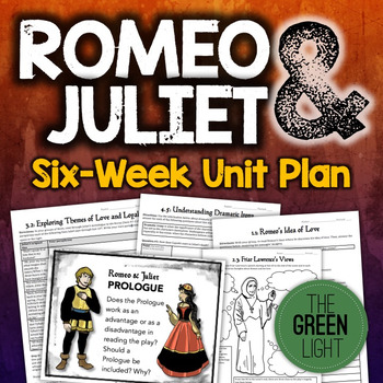 Romeo And Juliet Unit Plan Worksheets Projects Powerpoi Shakespeare Lessons Close Reading Passages Unit Plan