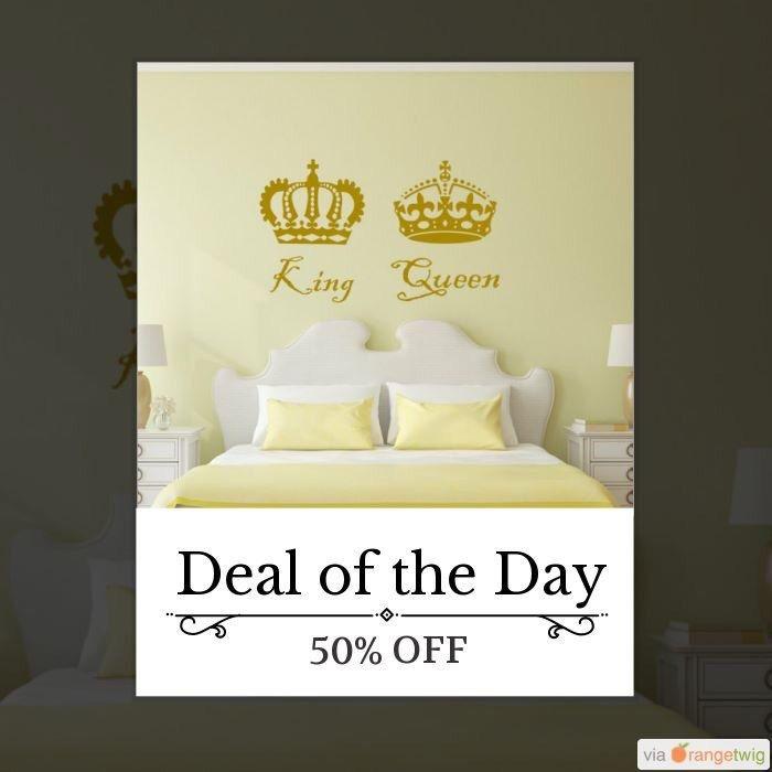 King and queen decal, king and queen decor, king and queen, queen ...