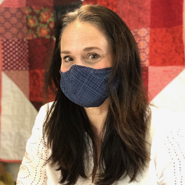 Photo of Fitted Face Mask with Pocket • Stitches Quilting