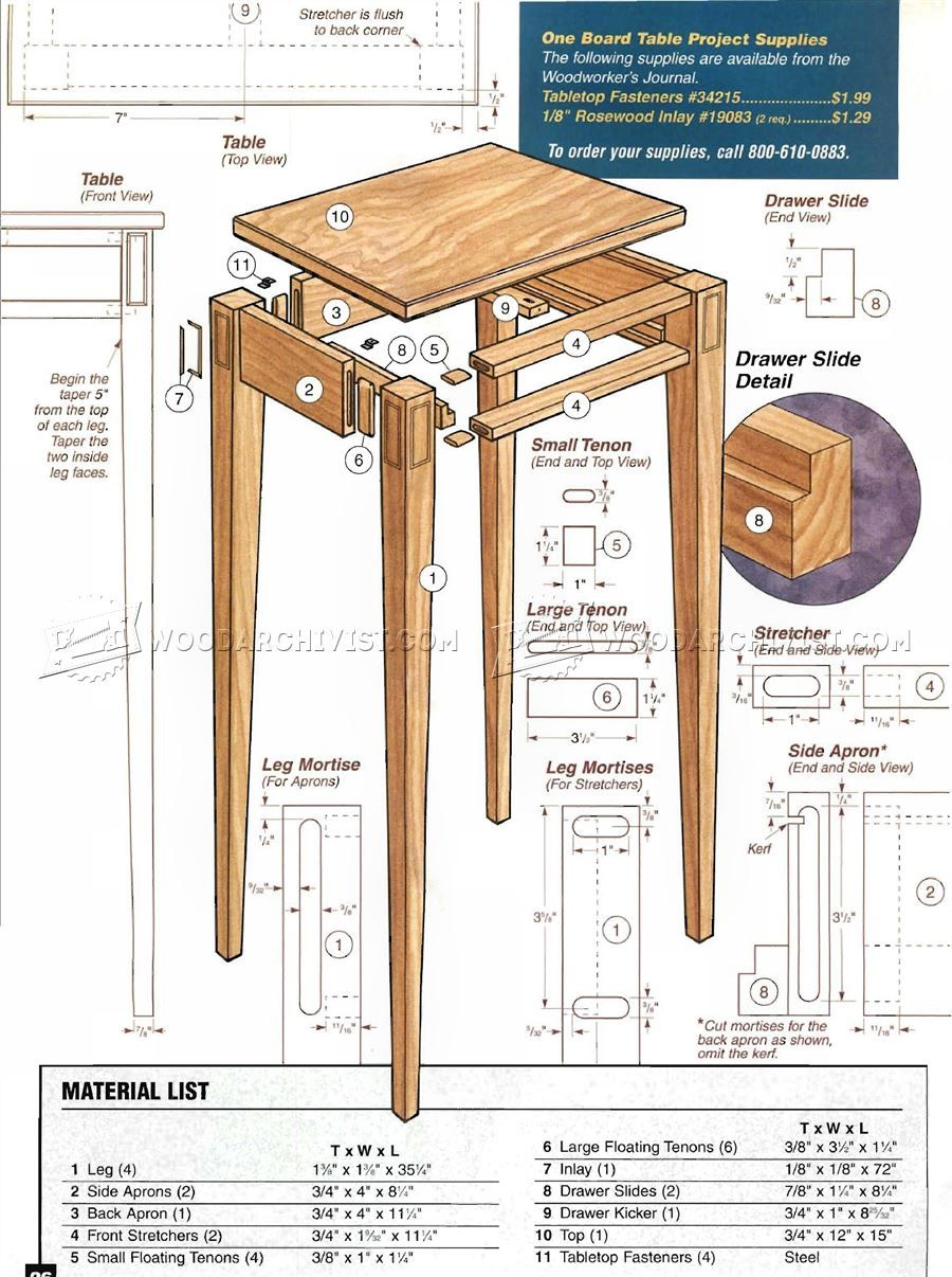 #3050 Build Hall Table - Furniture Plans