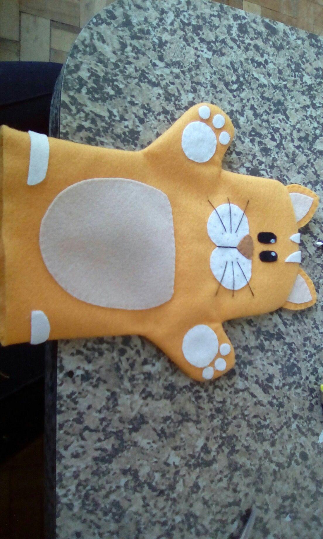 Fantoche de caixa de leite gato