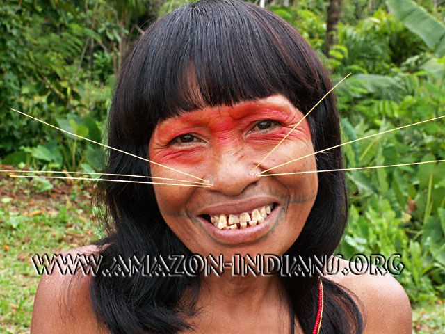 Amazonian facial tattoos