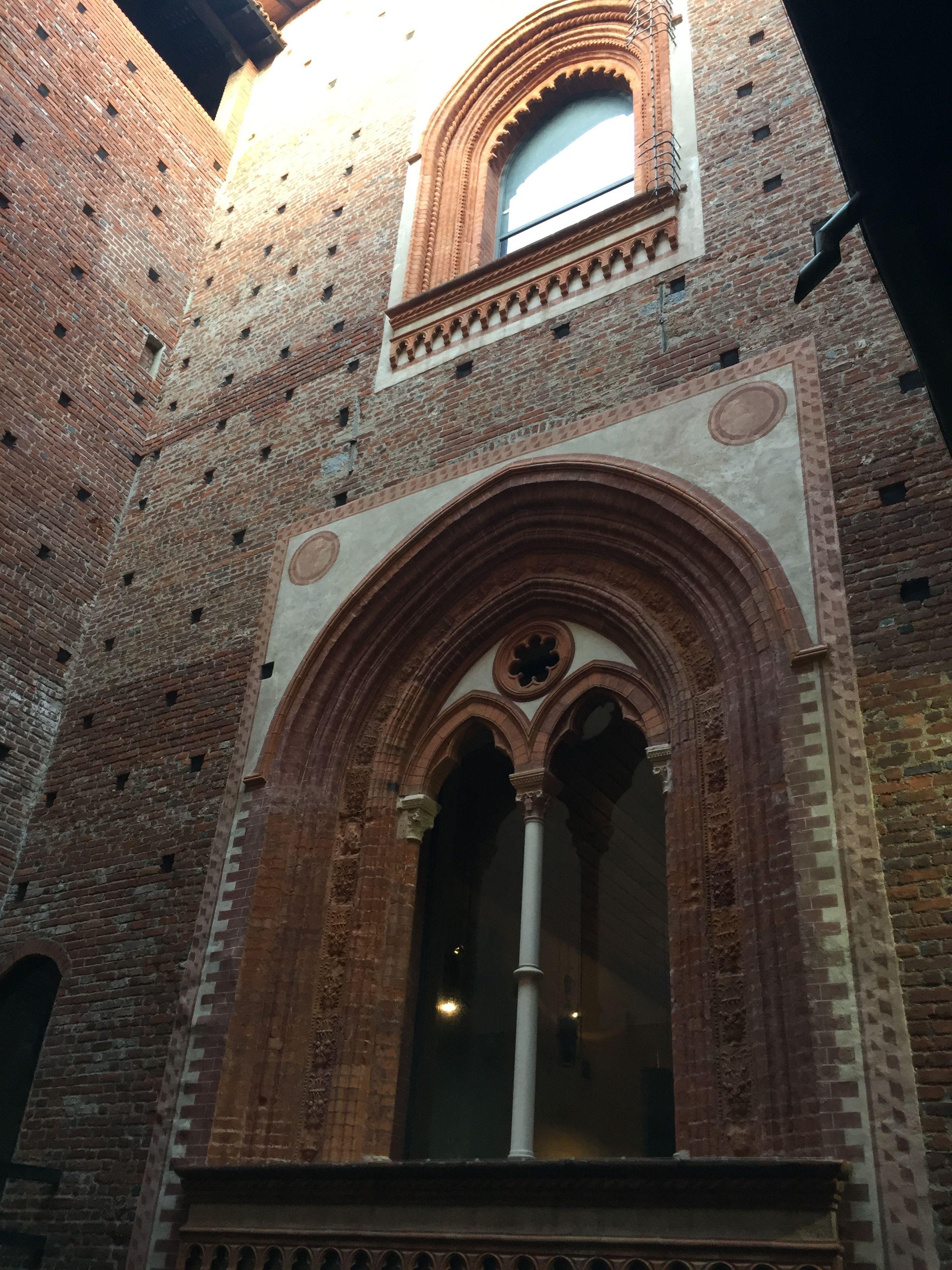 The Castello Sforzesco in Milan, Italy.