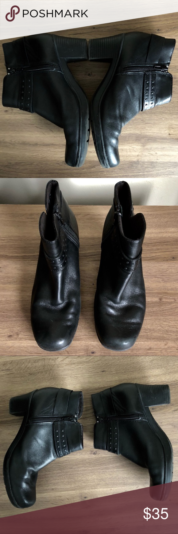 ac0b0fc2981 Clarks Dream Belle Bendables black leather boot In good condition Clarks  Shoes Ankle Boots   Booties