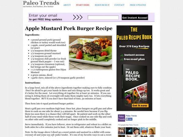 Pork apple burgers
