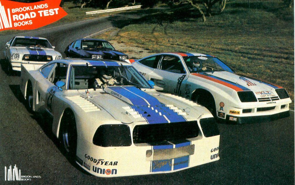 Stock and IMSA Mustang II and Chevy Monza