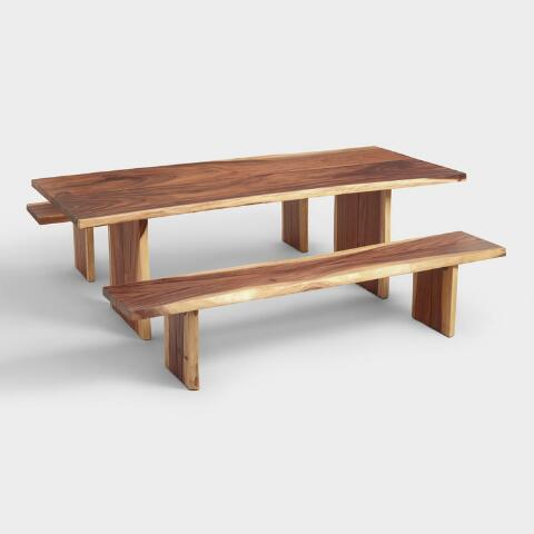 Live Edge Wood Sansur Dining Collection In 2020 Live Edge Wood