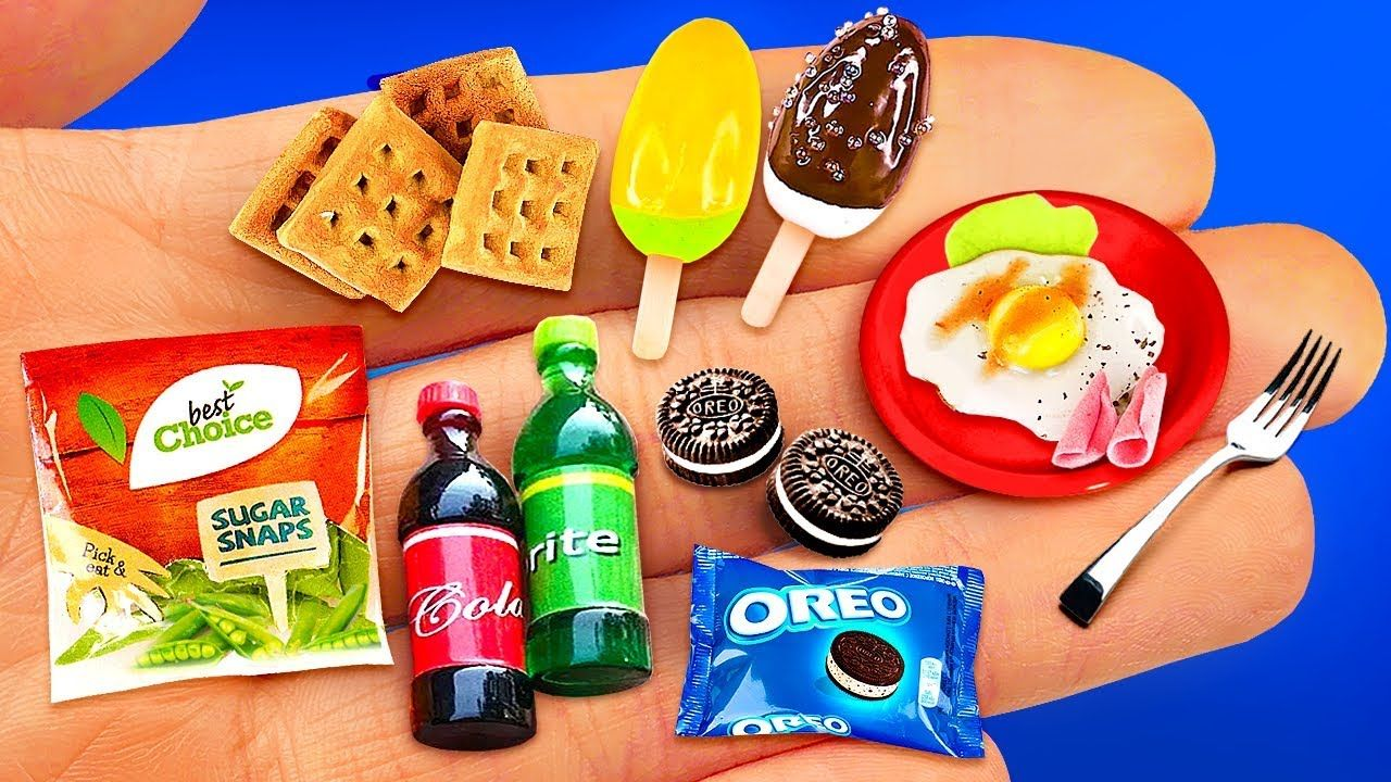 14 MINIATURE FOOD & THINGS IDEAS TO DIY IN 5 MINUTE CRAFTS