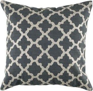 Keyes Decorative Pillow, Charcoal/White