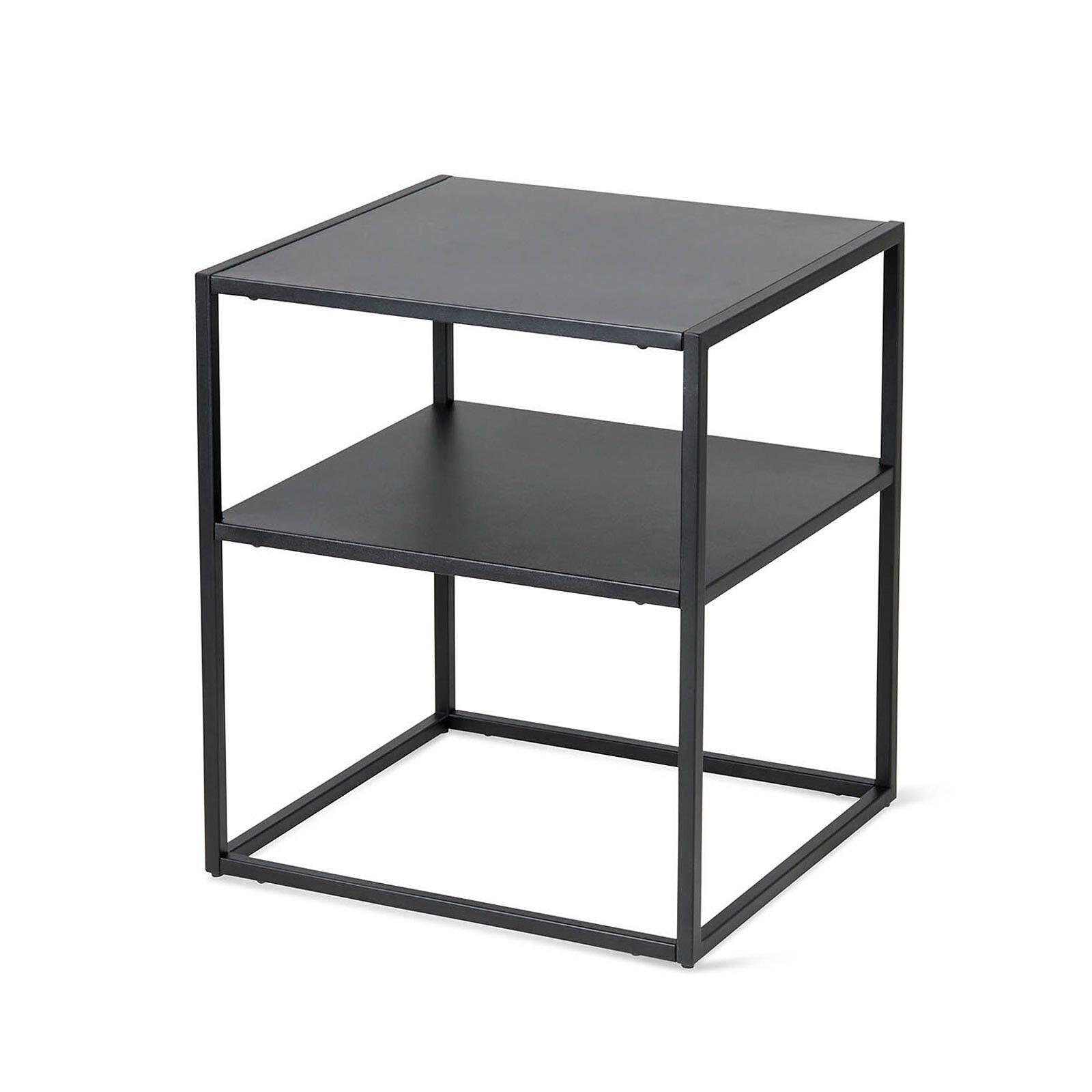 Beistelltisch Mit 2 Ebenen Metall B 45cm X H 50 5cm Schwarz In 2020 Beistelltisch Metall Beistelltisch Metall Schwarz Und Tisch