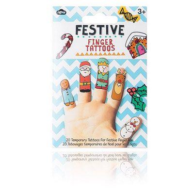 4,90EUR Festive Finger Tattoos Tatoos mit Weihnachtsmotiven