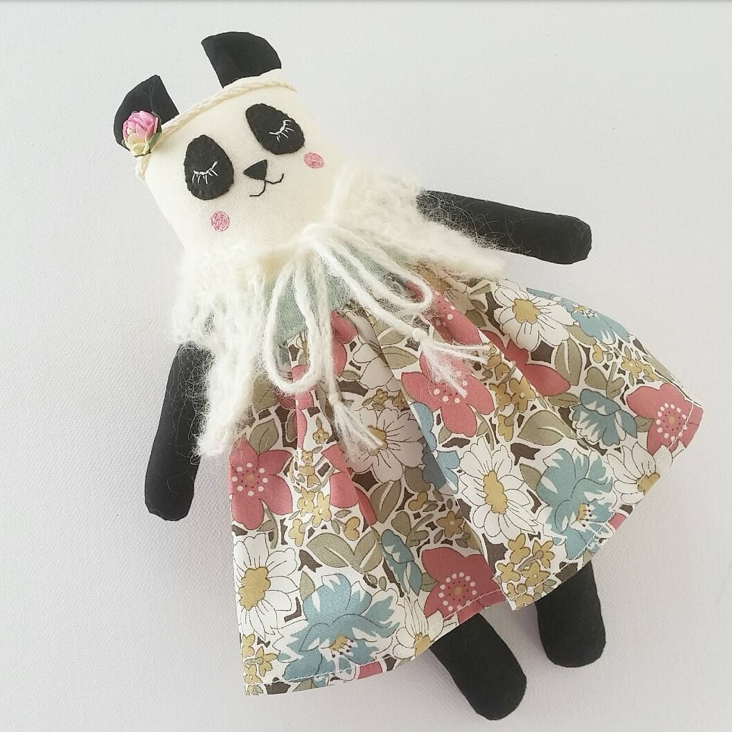This panda, which is only the second one I have made, is for my Nana for Christmas. She wanted one to go with the Mohair panda bear I made her many years ago when I was into bear making. Hope she loves her! 💟 . . #panda #pandadoll #pandaclothdoll #pandabear #clothdoll #clothdollartist #dollmaker #fabricdoll #handmade #collectordolls #heirloomdoll #nurserydoll #handmadetoys #dollmakers #dollmakersofinstagram #shopsmall #handmadeclothdoll  #madewithlove #madeinaustralia #deerdarlingdolls