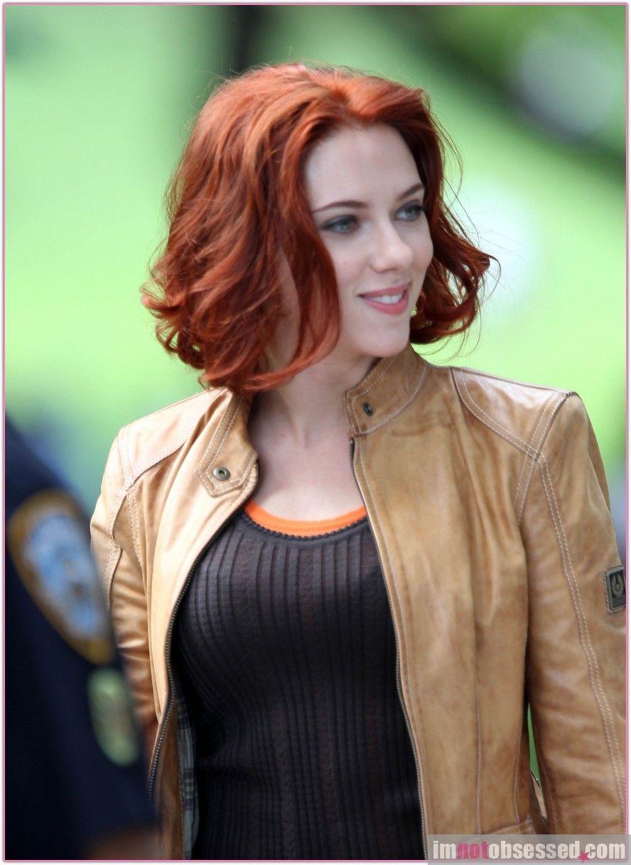 Red And Curly Bob Black Widow Scarlett Johansson Marvel Scarlett Johansson Black Widow Scarlett