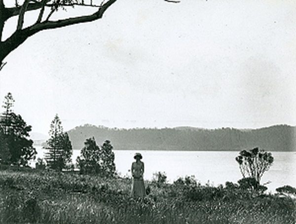 View towards Hawkesbury River Bridge, 1912.
