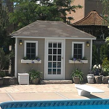 Garden Sheds 8 X 12 yorktown 8 ft. x 12 ft. canexel storage shed – sand | shed