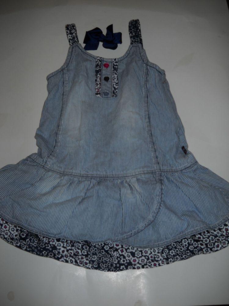 5b5a9de145a4 KANZ (EUROPEAN DESIGNER)    2 T    DRESS    Striped Jean w Cute ...