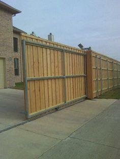 wow..electric driveway gate..solar powered | portail | Pinterest ...