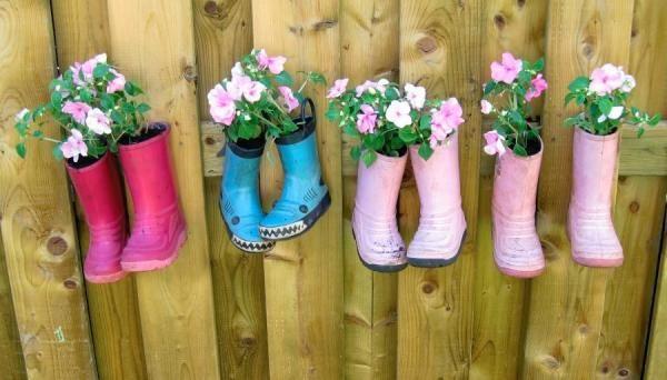Decorar con botas de agua | ideas cool | Como decorar el