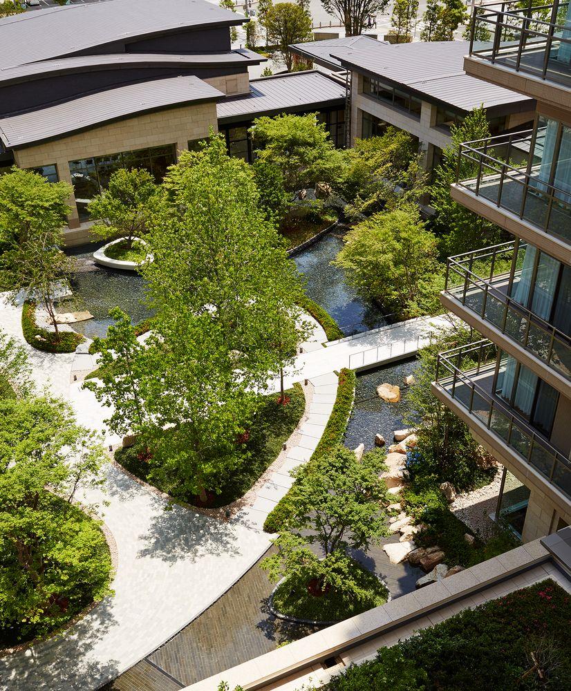 Gallery Of Sun City Kobe Tower Richard Beard Architects 4 Courtyard Garden Landscape Design Garden View