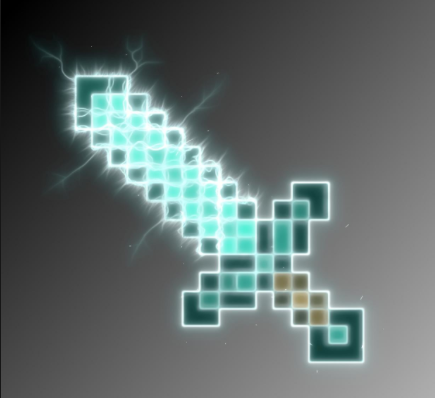 You Ll Will Be Shocked From This Sword It S Electric Minecraft Wallpaper Minecraft Minecraft Ender Dragon