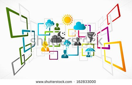 Abstract Weather Vector Concept Background Grid Illustration Stock Vector