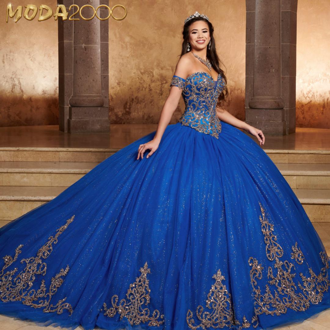 Elegant Royal Blue And Gold Off The Shoulder Quinceanera Dress Quinceanera Dresses Blue Quincenera Dresses Quincenera Dresses Blue [ 1080 x 1080 Pixel ]