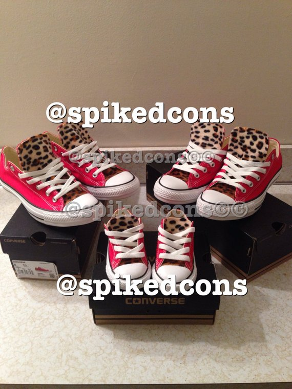 a783d7d0d23bc Adult Leopard Converse (low or high top) ***Ombre' leopard*** in ...