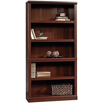 Sauder 5 Shelf Bookcase Select Cherry Finish