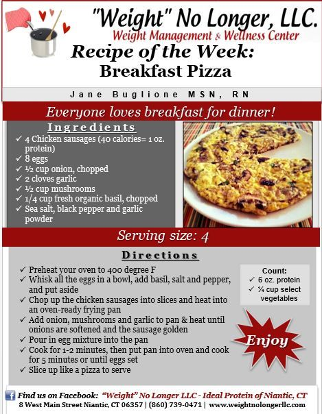 Breakfast Pizza‬ THIS WOULD BE TWO MEALS AT LEAST FOR IP PROTOCOL #idealproteinrecipesphase1dinner