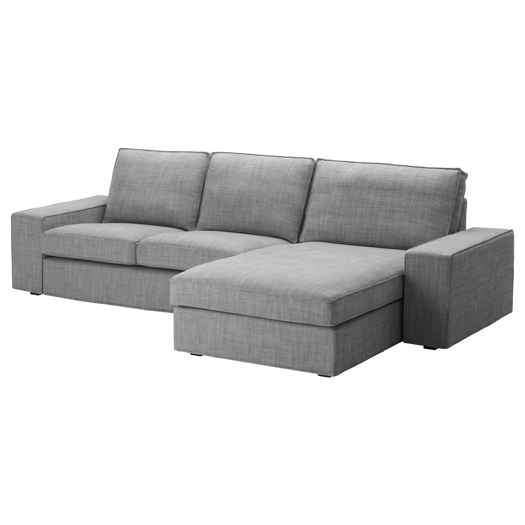 Recamiere ikea  KIVIK Loveseat and chaise lounge - Isunda gray - IKEA $879 | House ...