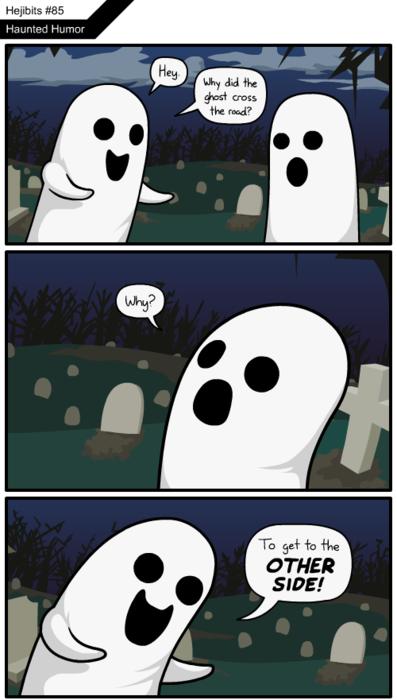 Halloween Ghosts Jokes Afterlife Ghost Jokes Humor Ghost Comic