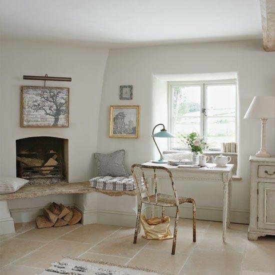 Wohnideen Arbeitszimmer Home Office Büro - Französisch-Stil Büro - franzosischen stil interieur ideen