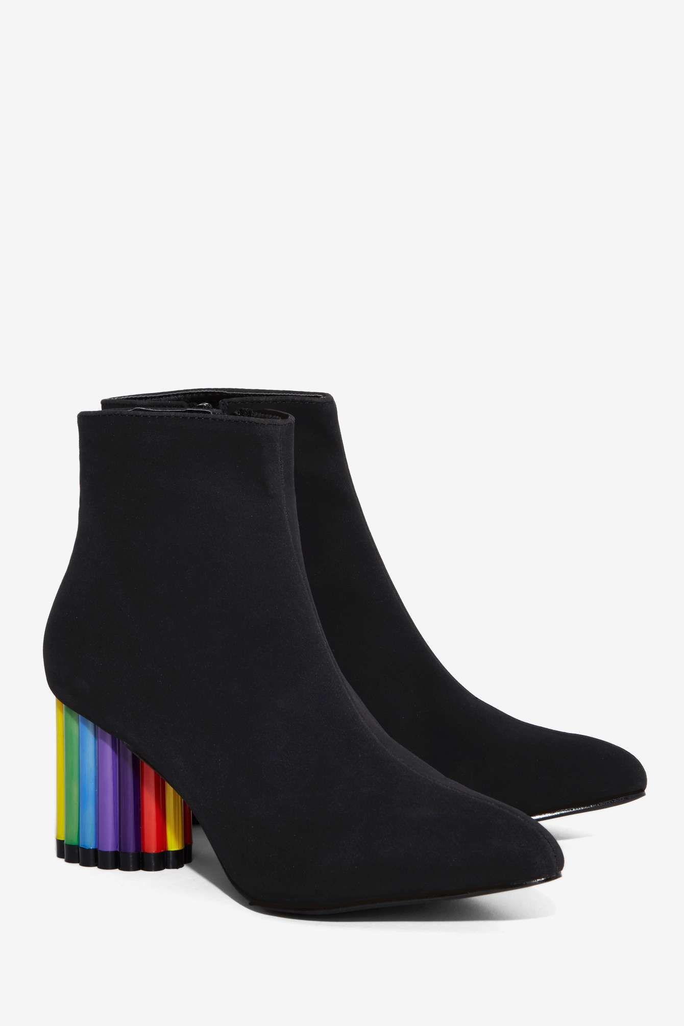 YRU Rainbow Road Vegan Leather Boot | Shop Shoes at Nasty Gal!