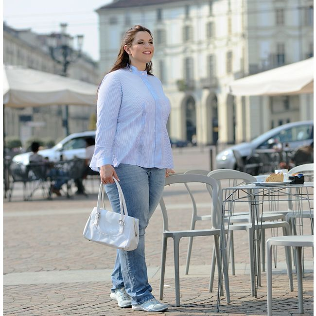 Everyday women's shirt by 46inpoi. #plussize #curvy #everyday #women #shirt #madeinitaly Damen blusen in Übergrößen