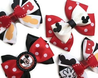 4 Mickey Mouse Club Hair Bow