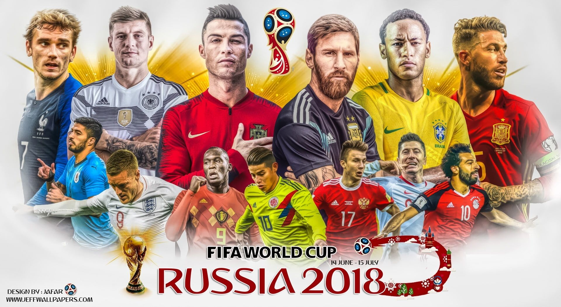 World Cup 2018 Fifa World Cup Russia 2018 Poster Sports Football Fifa Lionel Messi Real Madrid Cristiano Ron In 2020 World Cup 2018 World Cup World Cup Russia 2018