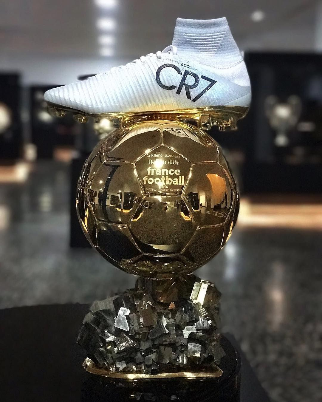 852095e6dd Honoured to wear my CR7 Mercurial boots -- Ronaldo Cristiano Ronaldo as he  shared on social media his Ballon d Or award says He is honoured to wear  his CR7 ...