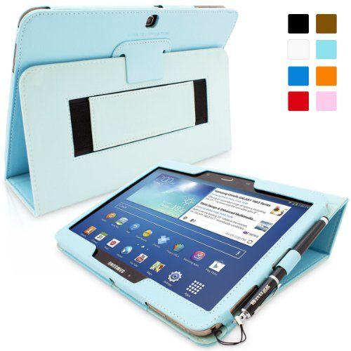 Snugg Galaxy Tab 3 10.1 Cuero funda en Azul claro, Funda con soporte plegable, correa de mano elastica, lazo para el lapiz stylus y un interior de fibra Nubuck de alta calidad, Automaticamente despierta y se pone a dormir Samsung Galaxy Tab 3. B00EQ6JKEG - http://www.comprartabletas.es/snugg-galaxy-tab-3-10-1-cuero-funda-en-azul-claro-funda-con-soporte-plegable-correa-de-mano-elastica-lazo-para-el-lapiz-stylus-y-un-interior-de-fibra-nubuck-de-alta-calidad-automaticamente-desp