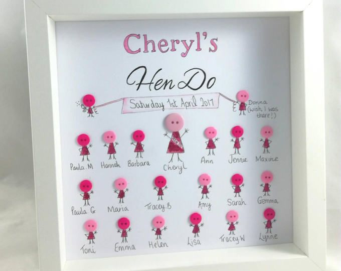 Hen Party Gift Do Gifts On Frame Personalised For Her Bride To Be Wedding